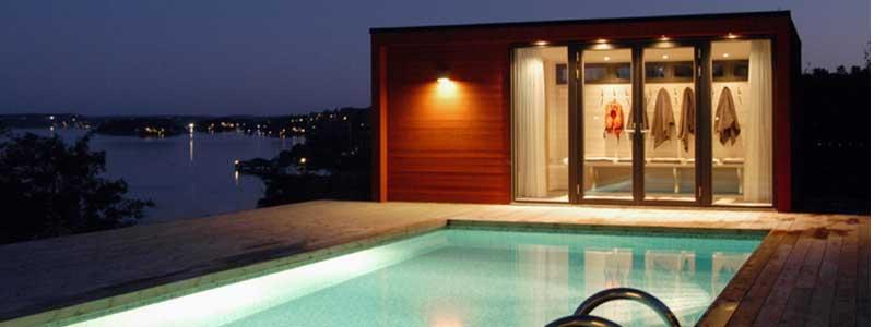 Poolrum - ett rum för avkopplling och samvaro.