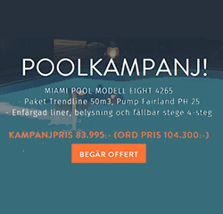 Poolkampanj på Miami Pool